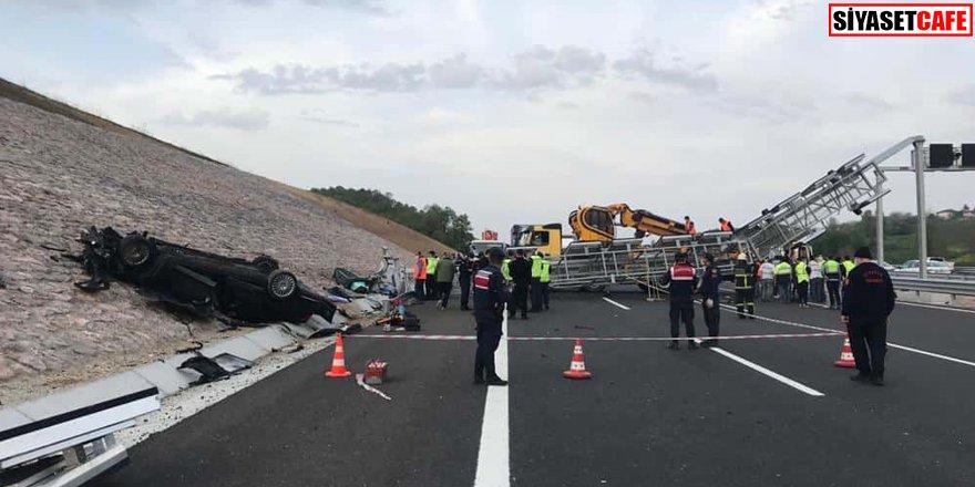 Feci kaza: Kazakistan Konsolosluğa ait otomobildeki 4 kişi öldü