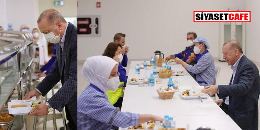 Cumhurbaşkanı Erdoğan işçilerle iftar yaptı!