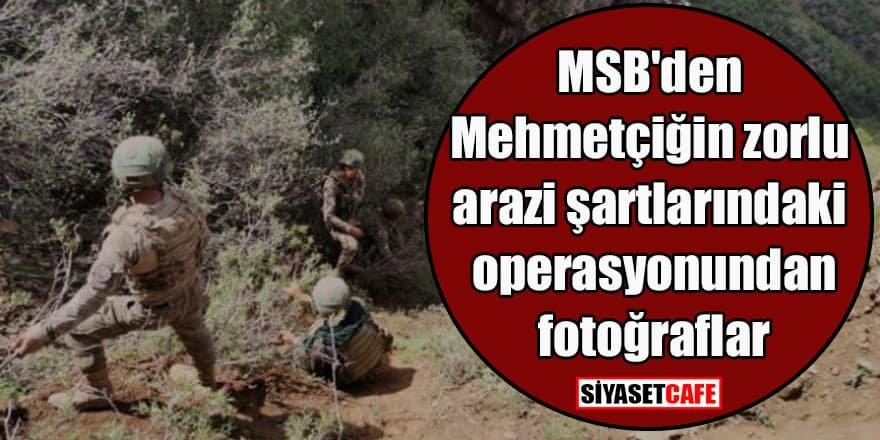 MSB'den Mehmetçiğin zorlu arazi şartlarındaki operasyonundan fotoğraflar