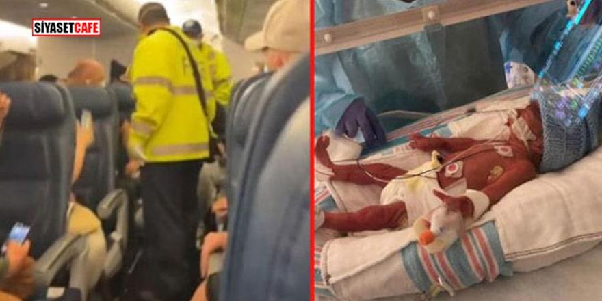 Genç kadın hamile olduğunu uçakta doğum yapınca anladı