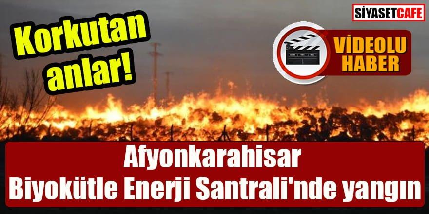Afyonkarahisar'da Biyokütle Enerji Santrali'nde yangın