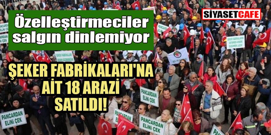 Onlar salgın dinlemiyor! Türkiye Şeker Fabrikaları'na ait 18 arazi satıldı