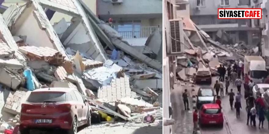 Zeytinburnu'nda bina çöktü! Çok sayıda araç enkaz altında kaldı