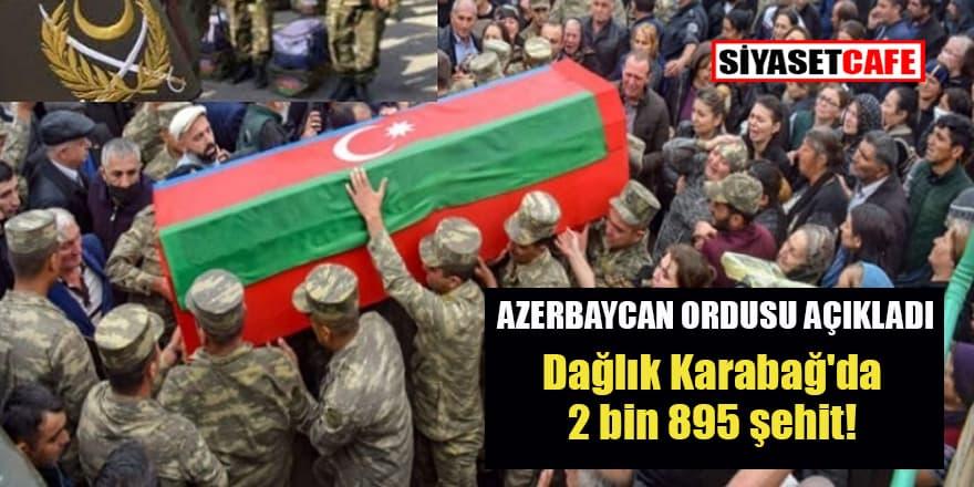 Dağlık Karabağ'da 2 bin 895 şehit