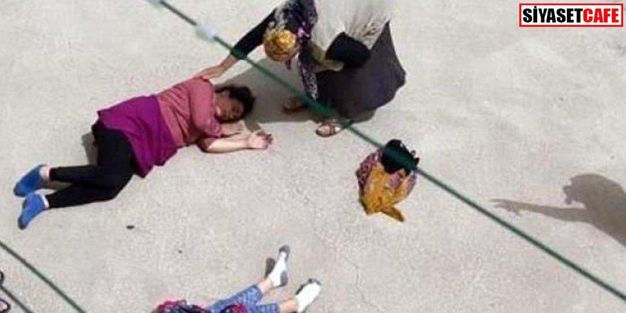 10 metre yükseklikten balkondan düştüler
