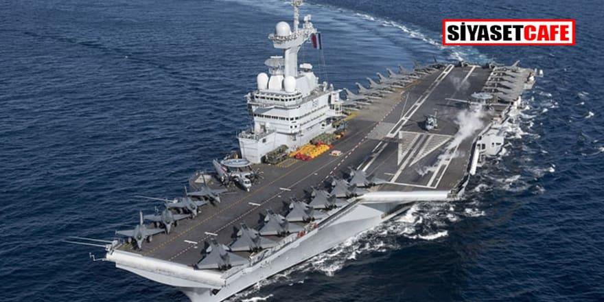 Fransa vazgeçmiyor! Charles de Gaulle uçak gemisini yeniden Güney Kıbrıs'a yolluyor!