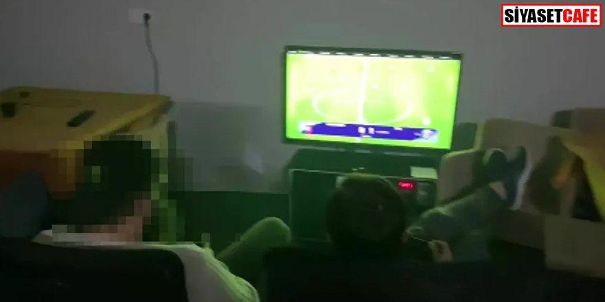 Polis baskınına rağmen oyuna devam ettiler