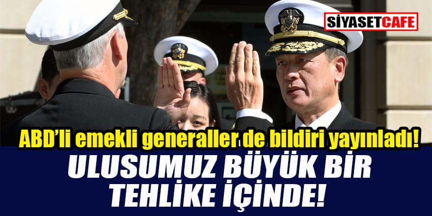 ABD'li emekli amiral ve generaller de Biden'e karşı bildiri yayınladı!
