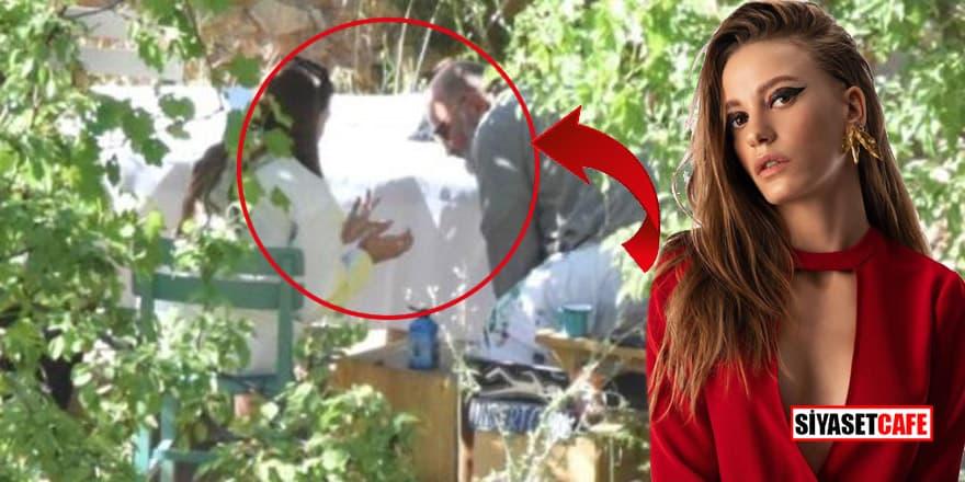 Serenay Sarıkaya, 'Arkadaşım' dediği iş adamı Haldun Demirhisar ile yakalandı