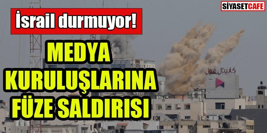 İsrail Gazze'deki medya binasını vurdu