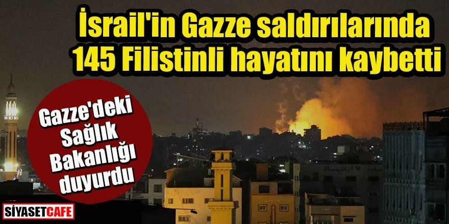 Yaralı sayısı bini geçti: İsrail'in Gazze saldırılarında 145 Filistinli hayatını kaybetti
