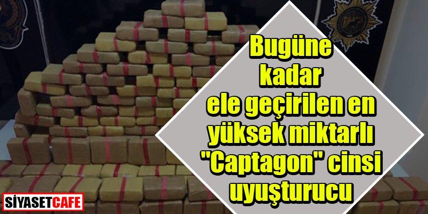 """Bugüne dek en yüksek miktarlı """"Captagon"""" cinsi uyuşturucu ele geçirildi"""