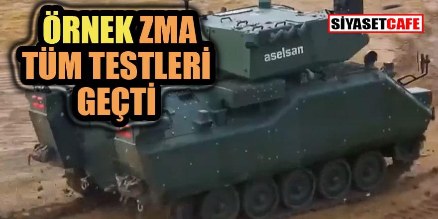 ZMA Modernizasyon Projesi kapsamında üretilen örnek araçtan tam isabet!