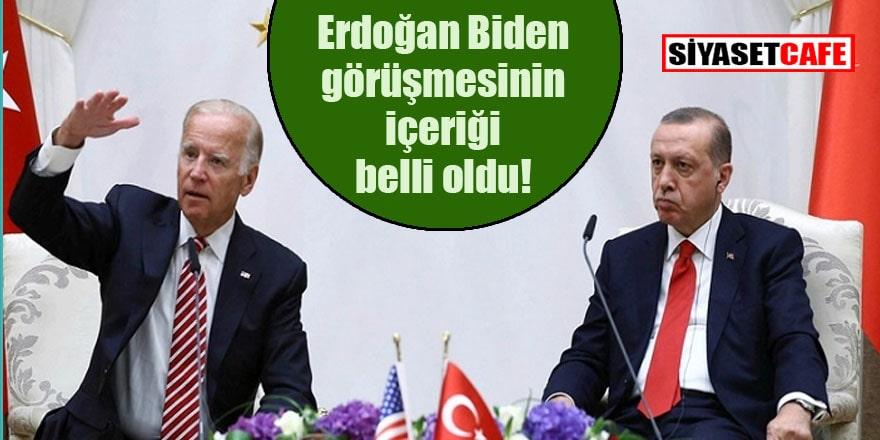 ABD tarafı Erdoğan Biden ne konuşacak açıkladı