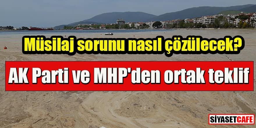 AK Parti ve MHP'den ortak teklif: Müsilaj sorunu nasıl çözülecek?
