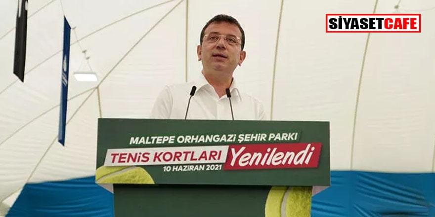 Arıtma tesisi açmayan Ekrem İmamoğlu tenis kortu açtı!