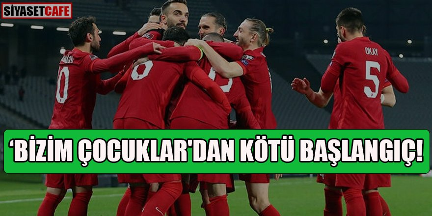 'Bizim Çocuklar'dan kötü başlangıç: Türkiye 0-3 İtalya