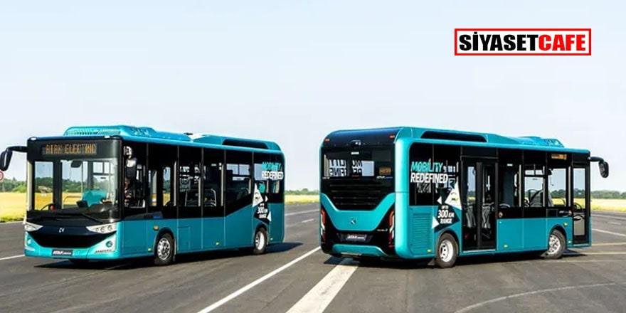 Yerli elektrikli otobüs Almanya yolcusu