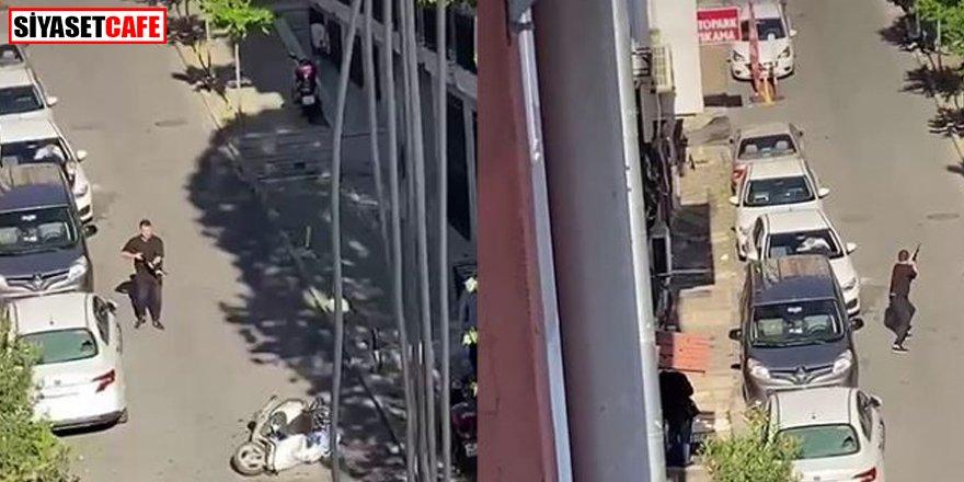 İstanbul'da sokak ortasında silahlı kavga