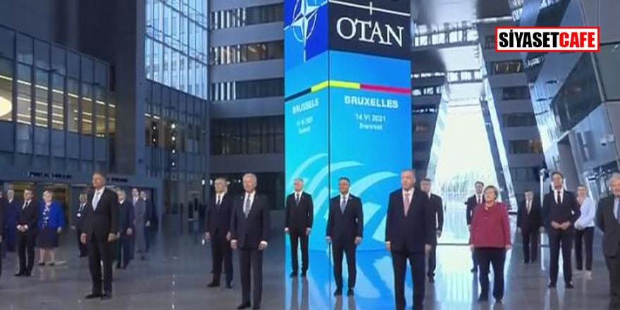 Erdoğan ve diğer liderler, NATO Zirvesi'nde 'aile pozu' verdi