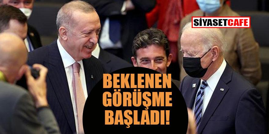 Erdoğan - Biden görüşmesi başladı... Sonucu merakla bekleniyor