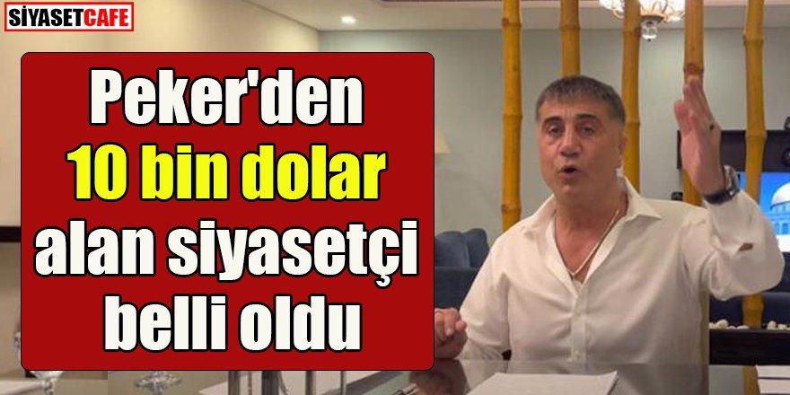 Soylu, Sedat Peker'den 10 bin dolar alan siyasetçiyi açıkladı