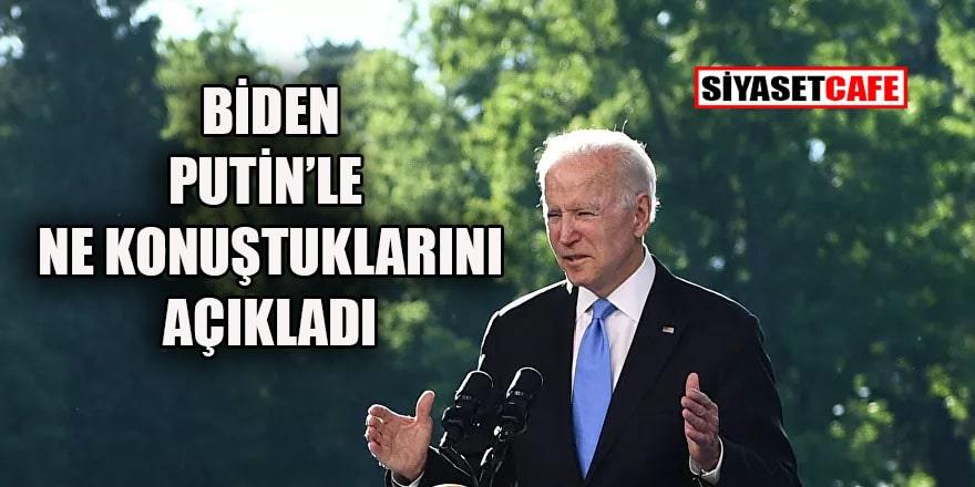Tarihi zirve sonrası Biden'dan flaş açıklama: Suriye ve İran meselelerini masaya yatırdık