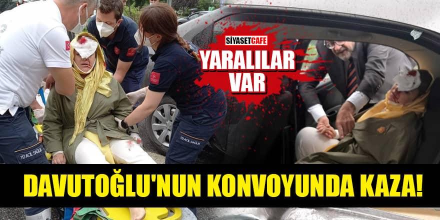 Davutoğlu'nun konvoyunda kaza! Yaralılar var