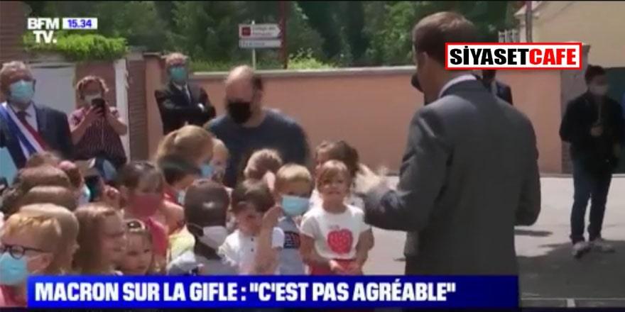 Macron'a ilkokul öğrencisinden terleten soru: Yediğin tokat nasıldı?
