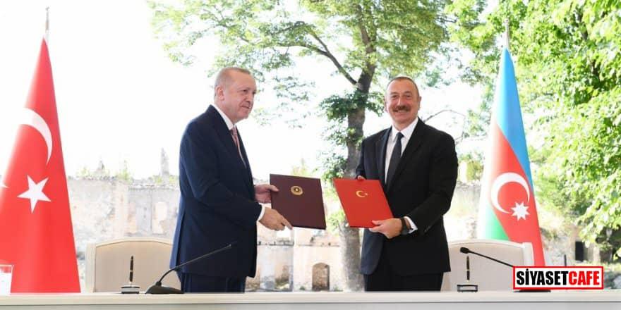 Erdoğan ve Aliyev tarafından imzalanan 'Şuşa' beyannamesi ve destek veren kuruluşlar