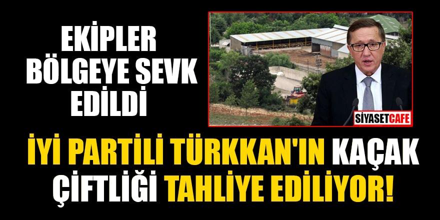 Ekipler bölgede! İYİ Partili Lütfü Türkkan'ın kaçak çiftliği tahliye ediliyor