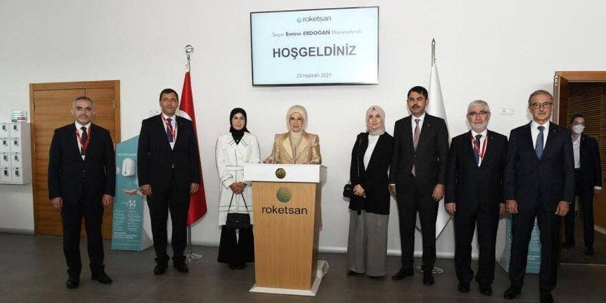 Roketsan Sıfır Atık Projesi Lansmanı, Emine Erdoğan'ın katılımıylagerçekleştirildi.