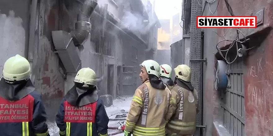 Bayrampaşa'da iş yerinde patlama! Ekipler oraya koştu