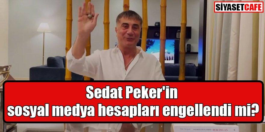 Sedat Peker'in sosyal medya hesapları engellendi mi?