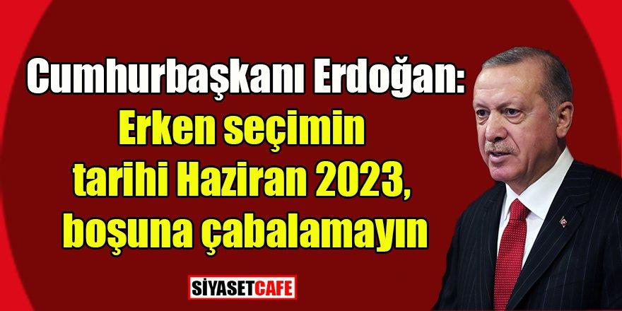 Erdoğan seçimi işaret etti: Tarih belli!