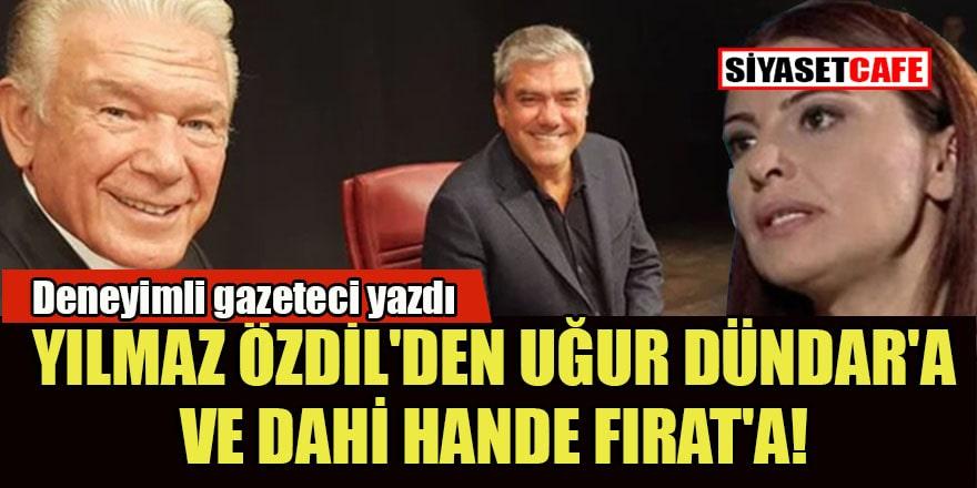 Aziz Üstel'den noktayı koyan yazı: Yılmaz Özdil'den Uğur Dündar'a ve dahi Hande Fırat'a!!