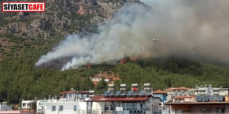 Kaş'ta orman yangını: Helikopter müdahale etti