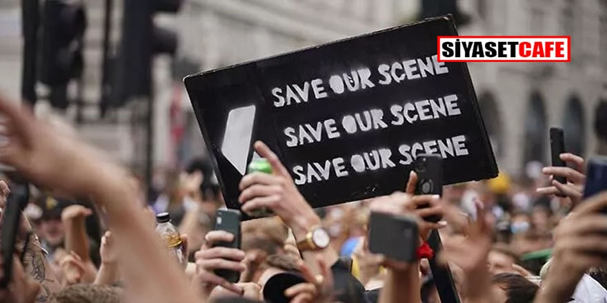 İngiltere'de gece kulübü ve canlı müzik çalışanlarından protesto