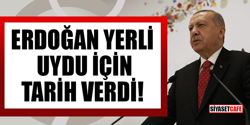 Cumhurbaşkanı Erdoğan yerli uydu için tarih verdi!