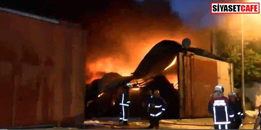 Ankara'da atık dönüşüm tesisinde korkutan yangın