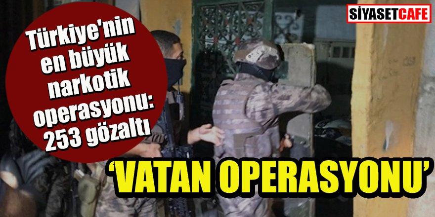 Türkiye'nin en büyük narkotik operasyonu: 253 gözaltı