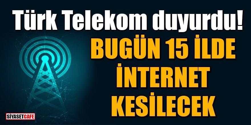 Dikkat internet kesintisi! İşte 2 Temmuz 2021'de internet kesintisi olacak yerler