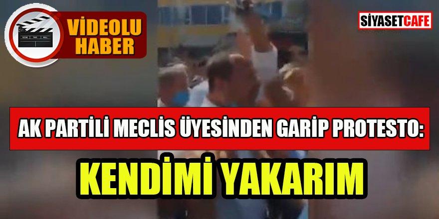 AK Partili meclis üyesinden garip protesto