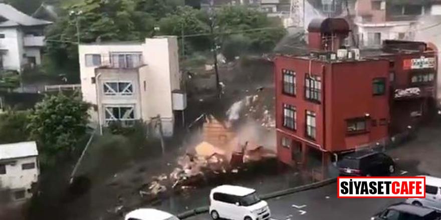Japonya'da heyelan felaketi! En az 20 vatandaş kayıp