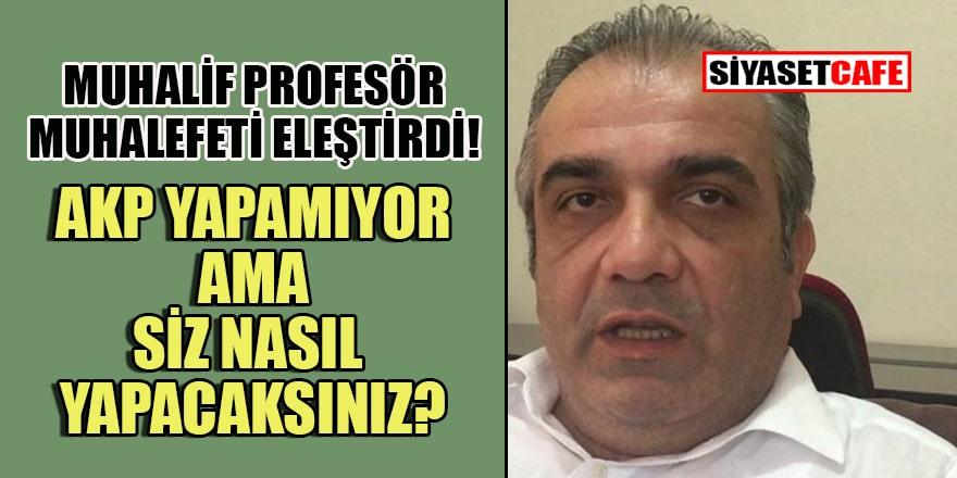 Odatv yazarı profesör sordu: 'AKP yapamıyor!' amenna ama siz nasıl yapacaksınız?