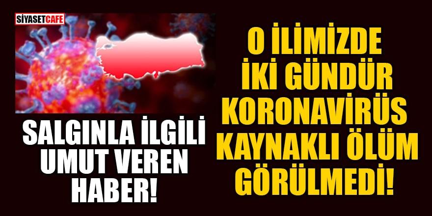 İzmir'de iki gündür koronavirüs kaynaklı ölüm görülmedi