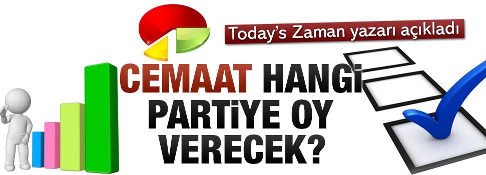 Cemaat hangi partiye oy verecek?