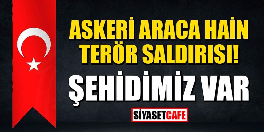 Mardin'de askeri araca hain terör saldırısı! Şehidimiz var