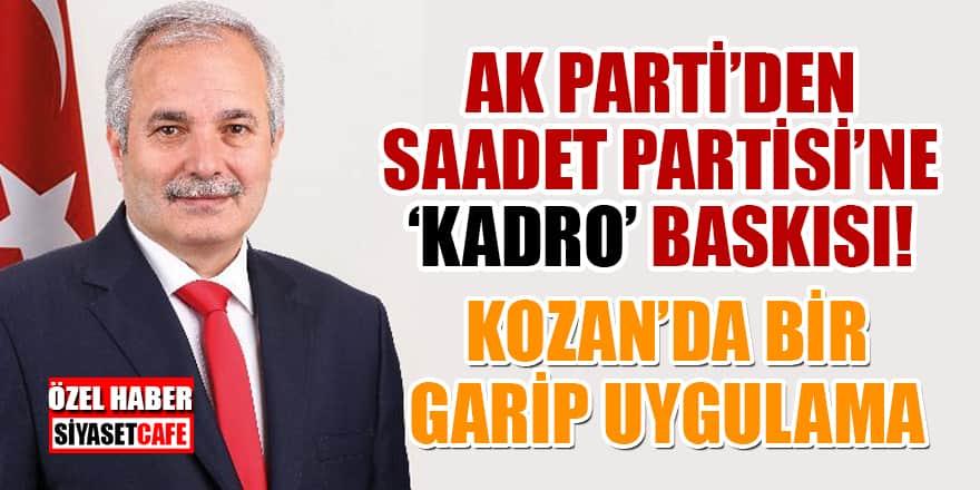 AK Parti'den Saadet Partisi'ne 'kadro' baskısı! - Özel Haber
