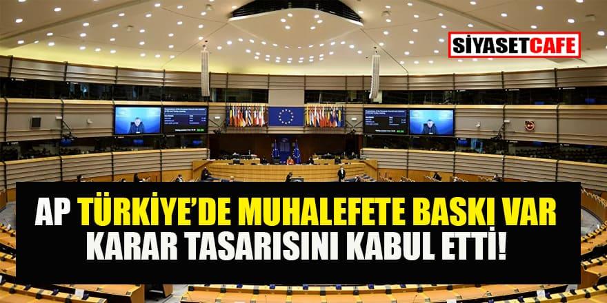 Avrupa Parlamentosu'nda 'HDP özelinde Türkiye'deki muhalefete baskı' karar tasarısı kabul edildi